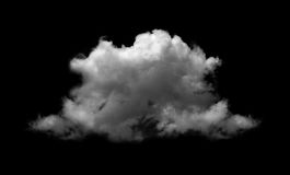White clouds on black. Background Royalty Free Stock Photography