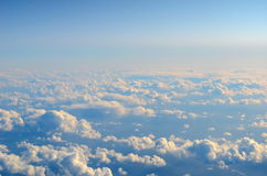 White clouds in a blue amazing sky Stock Image