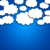 White clouds on blue background Stock Images