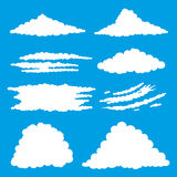 White clouds on a blue background. Royalty Free Stock Photo