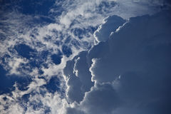 White clouds in blue skies Stock Images