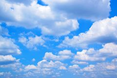 White clouds with blue sky 171018 0140 royalty free stock image