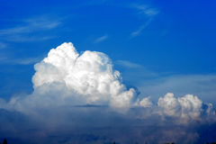 White clouds and blue sky. Scenic view of white cloud formations in blue sky Royalty Free Stock Images