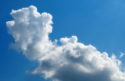 White clouds on blue sky. Stock Photos