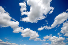 White clouds blue sky Royalty Free Stock Images