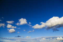 White clouds in blue sky. Royalty Free Stock Images