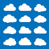 White clouds on blue sky Stock Photos