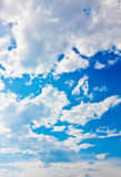 White clouds in the blue sky Royalty Free Stock Photos