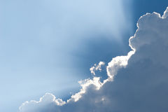 White clouds on blue sky. stock photography