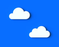 White Clouds on the Blue Sky. 3D Illustration of White Clouds on the Blue Sky stock illustration