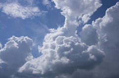 White clouds on a blue sky. Great white clouds on a blue sky in a sunny day Stock Image