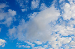White clouds and blue sky Stock Images