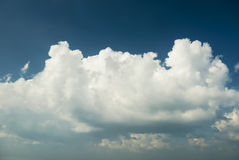 White clouds in the blue sky Royalty Free Stock Photo