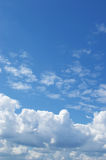 White clouds in a blue sky Royalty Free Stock Photos