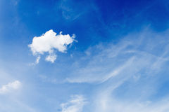 White Clouds on the blue sky Royalty Free Stock Photo