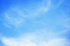 White clouds in the blue sky. White clouds in  the blue sky Stock Photo