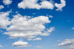 White clouds on blue sky. White clouds blue sky with space Royalty Free Stock Image
