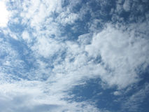 White clouds. On blue sky. Sky with clouds Royalty Free Stock Photography