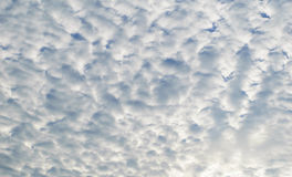 White clouds on blue sky. Stock Photo