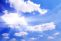 White clouds in a blue sky Stock Photography