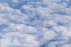 White clouds in a blue sky Royalty Free Stock Photo