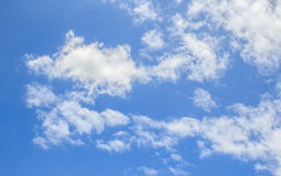 White clouds in the blue sky Stock Images