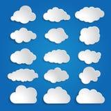 White clouds on a blue sky background Lizenzfreie Stockfotografie
