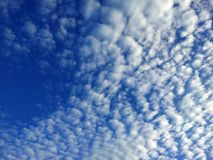 White clouds on the blue sky background Royalty Free Stock Photo