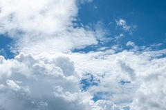 White clouds on blue sky Royalty Free Stock Image