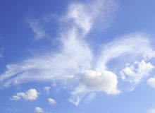 White clouds and blue sky background Stock Image