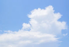 White clouds and blue sky background Royalty Free Stock Photo