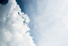 White clouds in blue sky. For background stock images