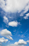 White clouds in blue sky. For background royalty free stock image