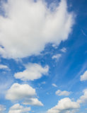 White clouds in blue sky Royalty Free Stock Image