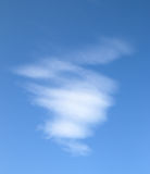 White clouds in a blue sky Stock Photos