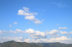 White clouds in a blue sky Royalty Free Stock Photography