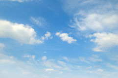 White clouds on a blue sky royalty free stock image