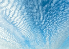 White clouds in blue sky. Stock Image