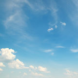 White clouds on a blue sky Royalty Free Stock Photos