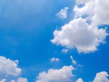 White clouds with blue sky background. White clouds blue sky background air bight day cloudy bright stock image