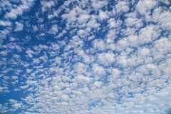 White clouds on  blue sky background Stock Photo