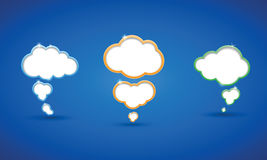 White clouds on blue sky background Royalty Free Stock Photos