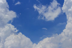 White clouds on blue sky background. Royalty Free Stock Images