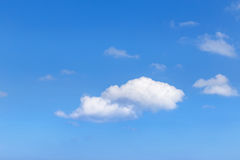 White clouds with blue sky background Stock Images