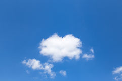 White clouds on blue sky background Royalty Free Stock Photography
