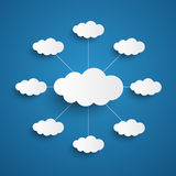 White clouds on blue sky background stock illustration