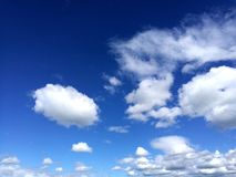 White Clouds and Blue Sky. Beautiful white clouds and blue sky Royalty Free Stock Photo
