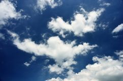 White clouds in blue sky. Royalty Free Stock Photo