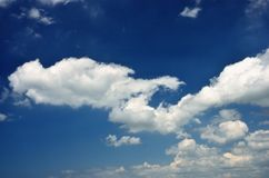 White clouds in blue sky. Royalty Free Stock Image