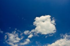 White clouds in blue sky. Stock Photos